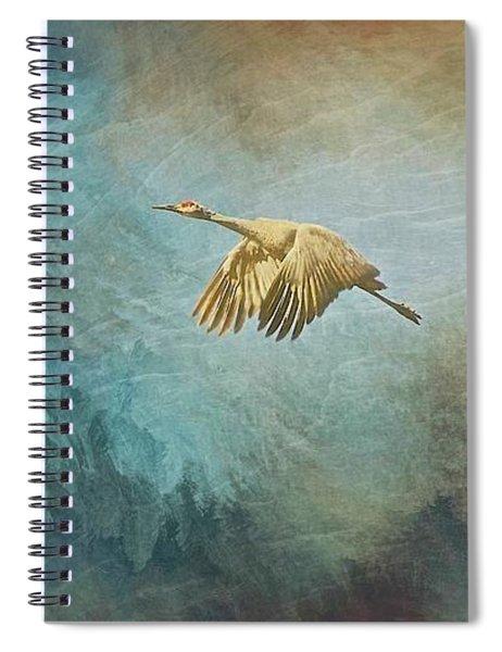 Flight Of Fantasy, Sandhill Cranes Spiral Notebook