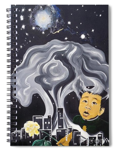 Flying Lamb Productions                Flight Of Hope Spiral Notebook