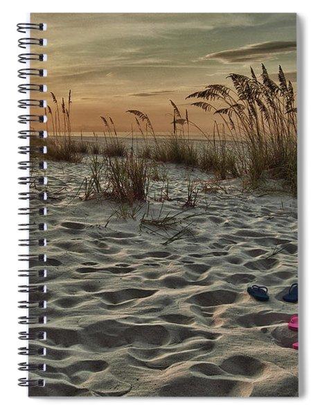 Flipflops On The Beach Spiral Notebook