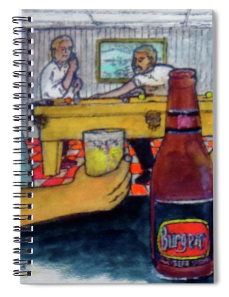 Flirting At My Basement Bar And Pool Room Spiral Notebook