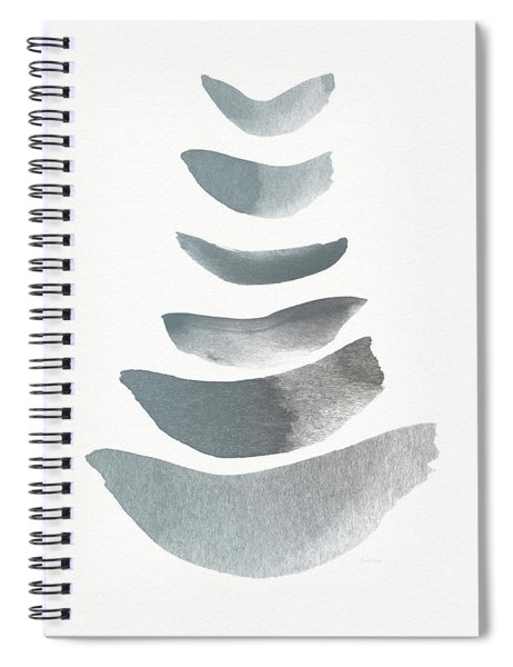 Floating 1- Zen Art By Linda Woods Spiral Notebook