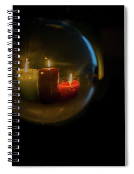 Floating Candles Spiral Notebook