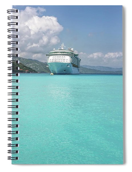 Floating On Turquoise Spiral Notebook