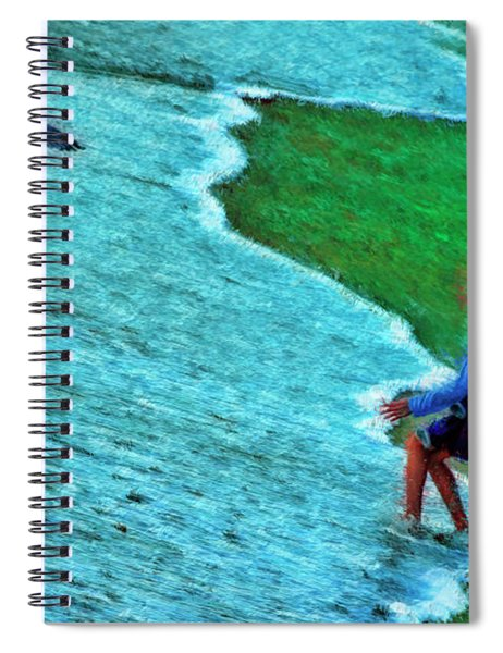 Flood On The Front Lawn Spiral Notebook