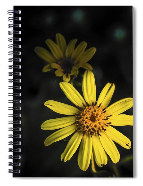 Flora In Yellow Spiral Notebook