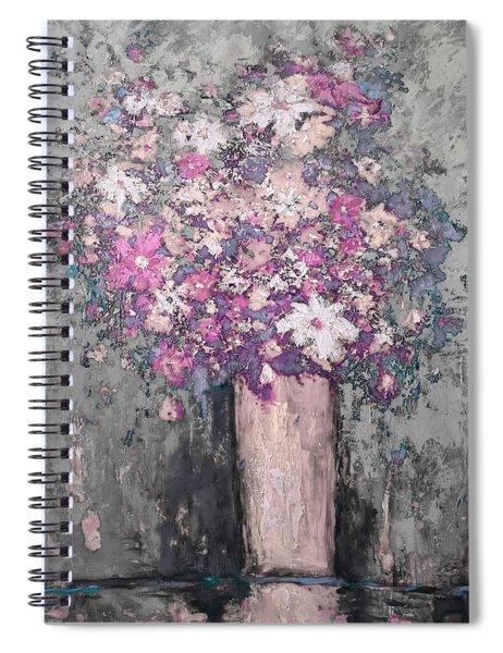 Floral Abstract - Reverse - Modern Impressionist Palette Knife Work Spiral Notebook