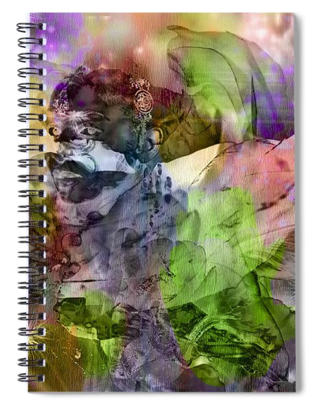 Floral Dream Of Oriental Beauty Spiral Notebook