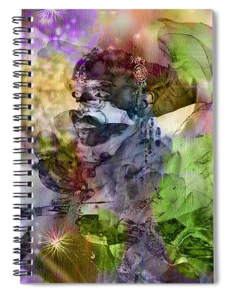Floral Dream Of Oriental Beauty Spiral Notebook