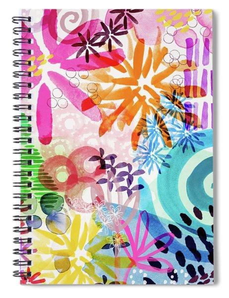 Floral Fantasy- Art By Linda Woods Spiral Notebook