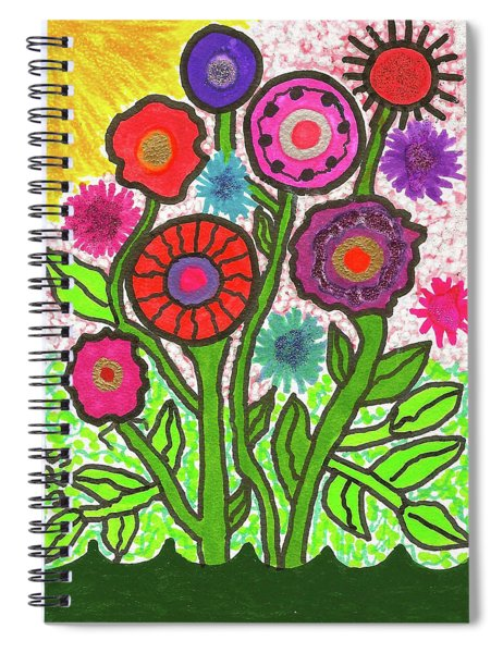 Floral Majesty Spiral Notebook