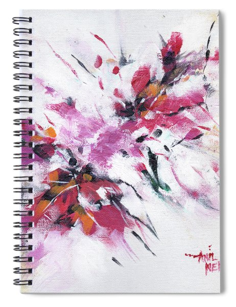 Floral New Spiral Notebook