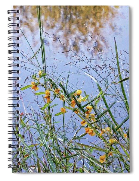 Floral Pond  Spiral Notebook