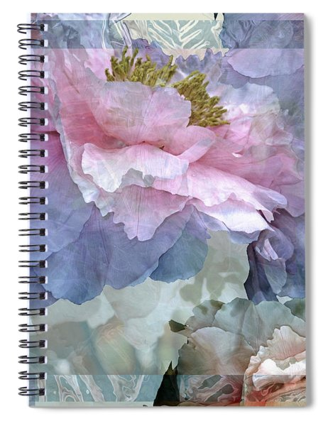 Floral Potpourri With Peonies 24 Spiral Notebook