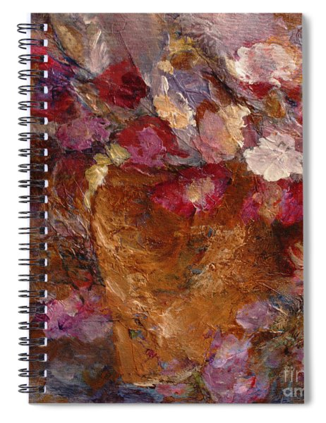 Floral Still Life Pinks Spiral Notebook