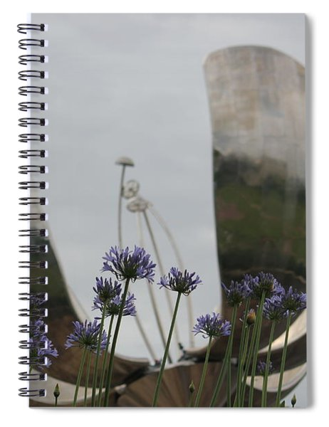 Floralis Generalis Spiral Notebook