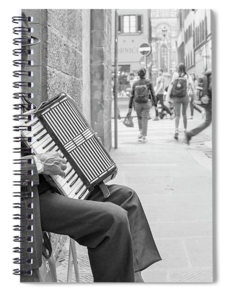 Florence Italy Street Performer  Spiral Notebook