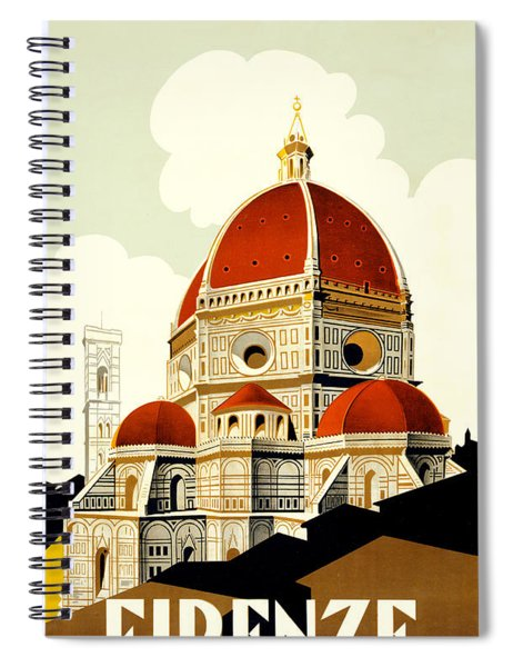 Florence Travel Poster Spiral Notebook