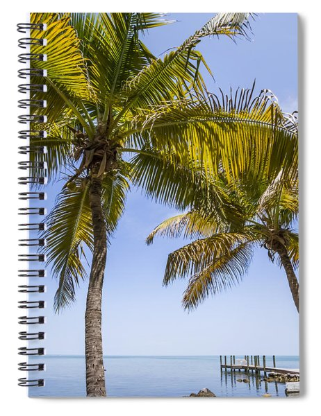 Florida Keys Just Paradisian Spiral Notebook by Melanie Viola