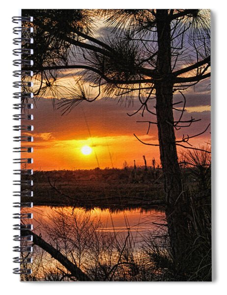 Florida Pine Sunset Spiral Notebook