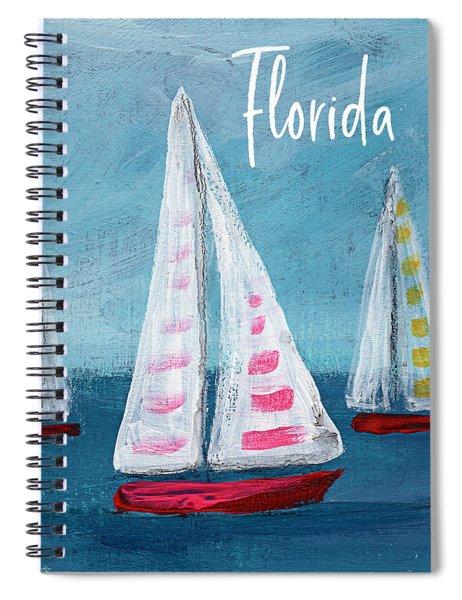 Florida Sailing- Art By Linda Woods Spiral Notebook