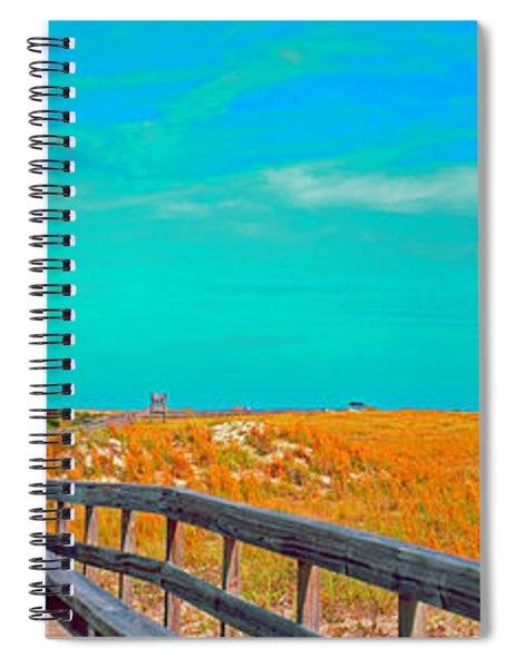 Florida Sand Dunes Atlantic New Smyrna Beach Spiral Notebook
