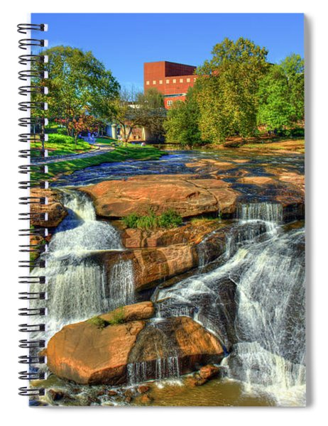 Flow On Reedy River Falls Park Art Greenville South Carolina Art Spiral Notebook