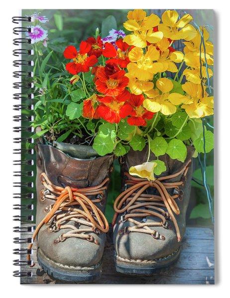 Flower Boots Spiral Notebook