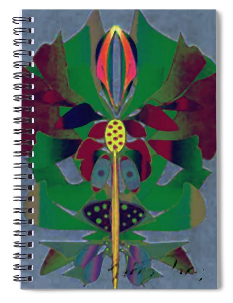 Flower Design Spiral Notebook