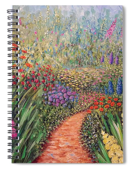Flower Gar02den  Spiral Notebook
