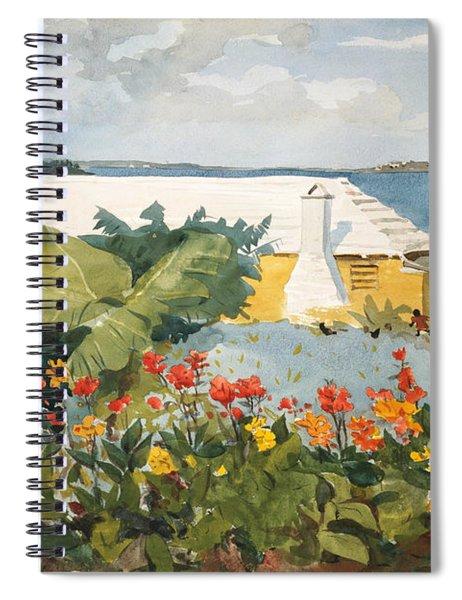 Flower Garden And Bungalow Spiral Notebook