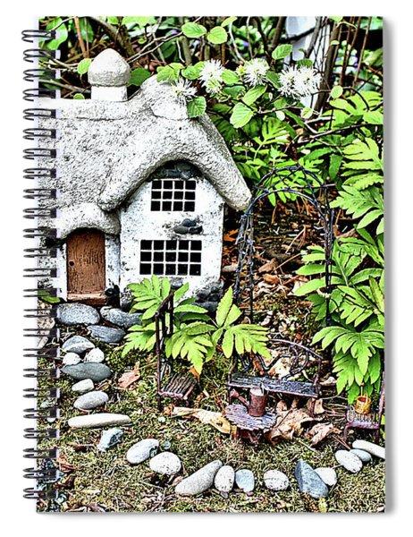 Flower Garden Cottage Spiral Notebook