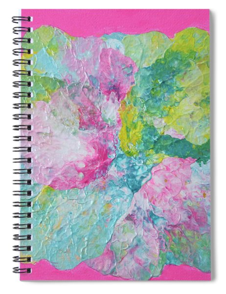 Abstract Flower In Pink Surround Spiral Notebook