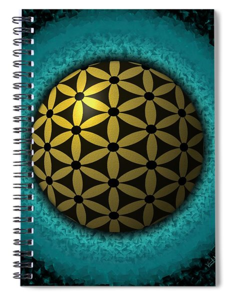 Flower Of Life Spiral Notebook