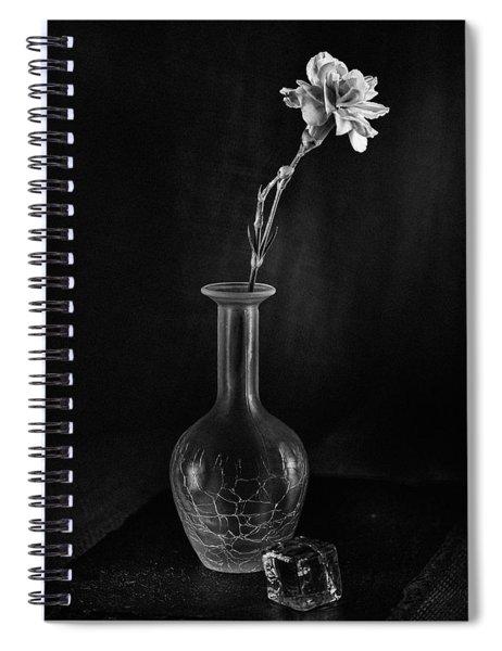 Flower On Rocks Spiral Notebook