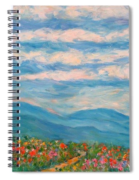 Flower Path To The Blue Ridge Spiral Notebook