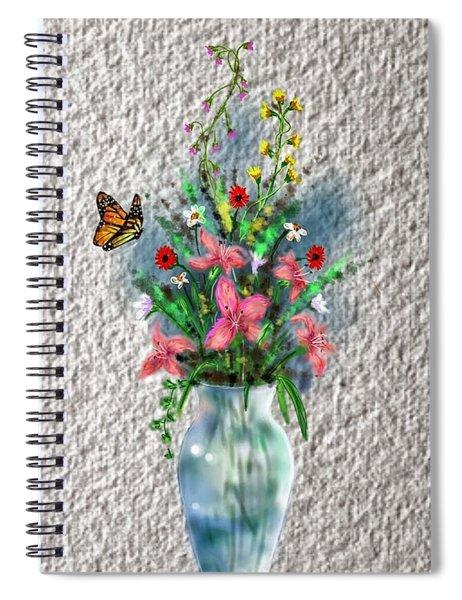 Flower Study Three Spiral Notebook