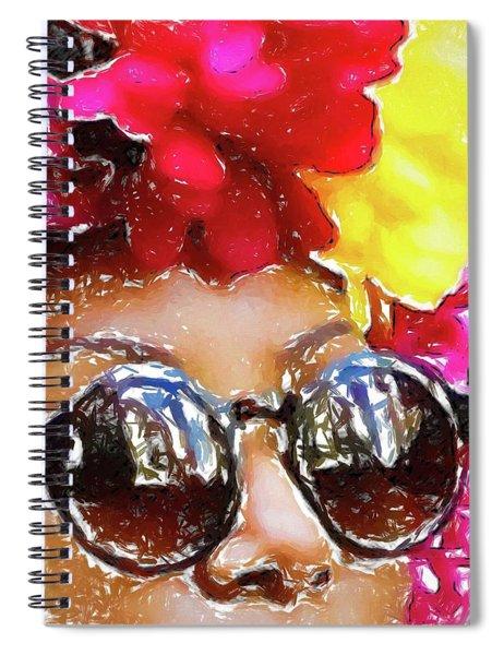 Flowered Sunglasses Spiral Notebook