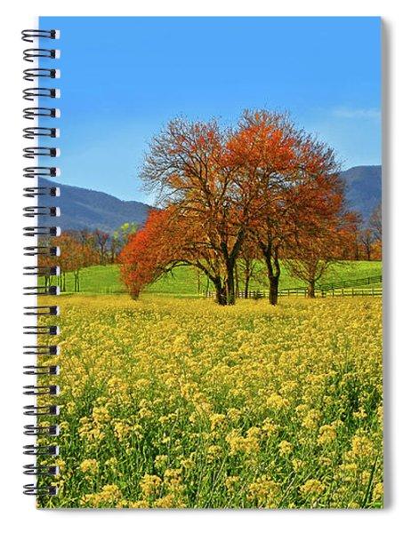 Flowering Meadow, Peaks Of Otter,  Virginia. Spiral Notebook