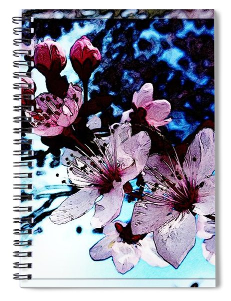Flowering Of The Plum Tree 7 Spiral Notebook
