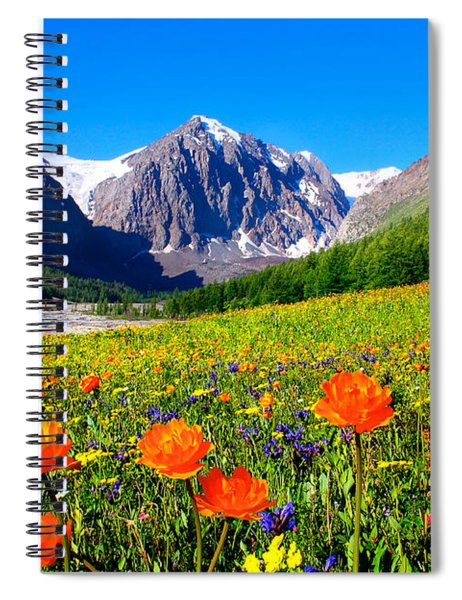 Flowering Valley. Mountain Karatash Spiral Notebook