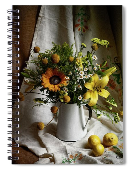 Flowers And Lemons Spiral Notebook