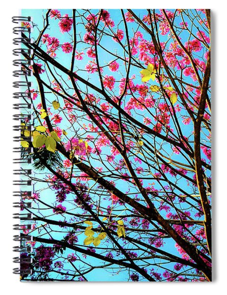Flowers And Trees Spiral Notebook