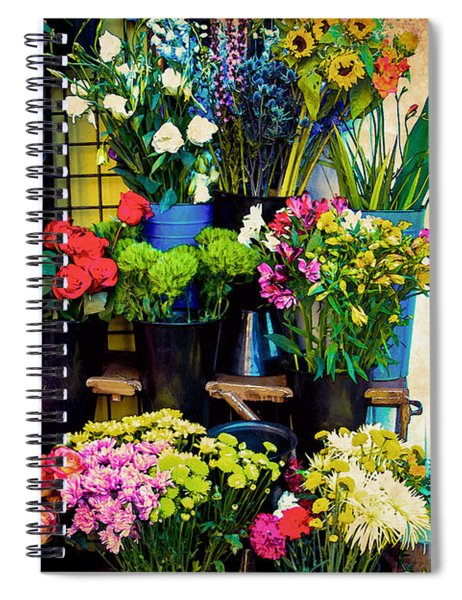Flowers For Sale Spiral Notebook