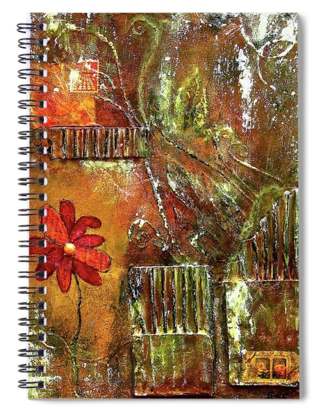 Flowers Grow Anywhere Spiral Notebook
