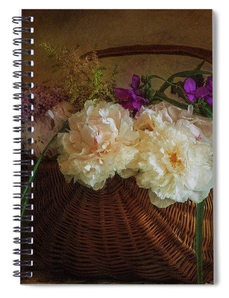 Flowers In A Basket Spiral Notebook