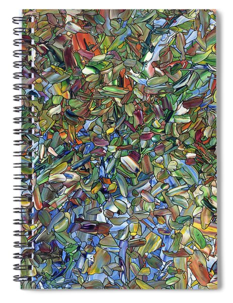 Flowers In A Blue Vase Spiral Notebook