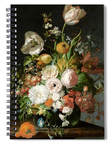 Flowers In A Glass Vase Spiral Notebook