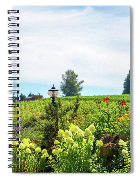 Flowers In Oregon Wine Country Spiral Notebook
