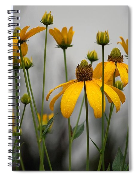 Flowers In The Rain Spiral Notebook