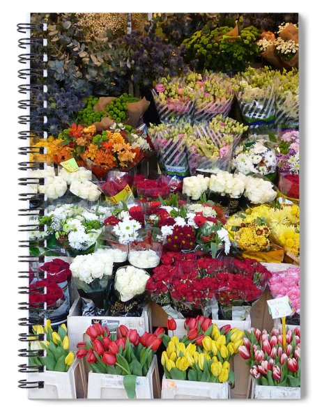 Flowers Kiosk Spiral Notebook